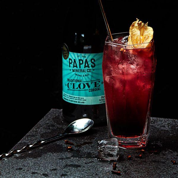 Clove and berry cider bourbon